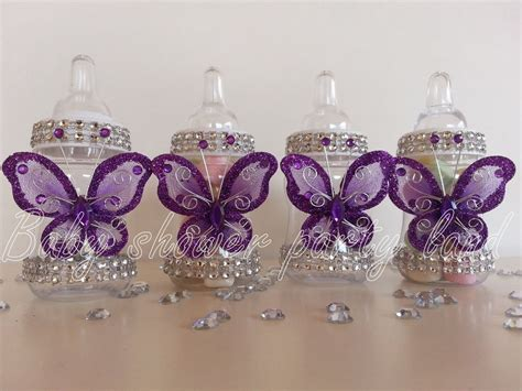 12 purple fillable butterfly bottles baby shower favors