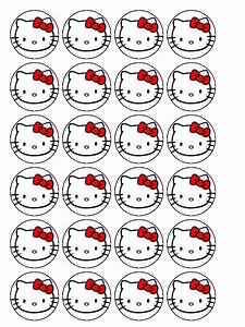 hello kitty cupcake toppers cake decorating ideas With hello kitty cupcake topper template