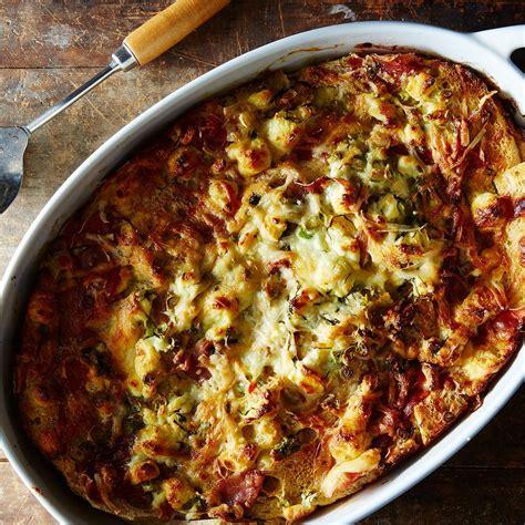 prosciutto and goat cheese strata recipe food recipes