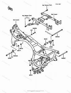 Kawasaki Motorcycle 1987 Oem Parts Diagram For Frame