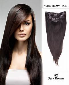 """30"""" #4/22 Brown/Blonde Straight 100% Remy Hair Clip in ..."""