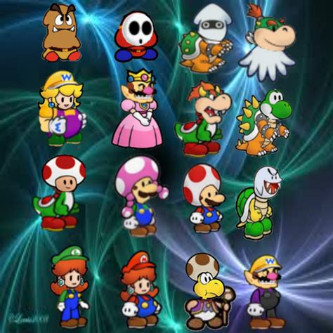 paper mario fan game super paper mario fan characters by floskyxd on deviantart