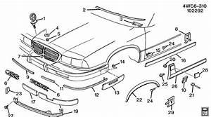 10240353 - Buick Bezel  Capsule  Headlamp  Fog Lamp  Bezel  Hdlp Paint To Match
