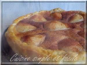 cuisine simple 67 tarte aux poires à la crème d 39 amande cuisine simple et facile