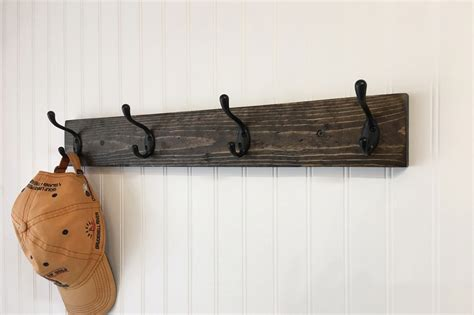 wall coat rack rustic coat rack with 4 coat hooks wall coat rack entryway