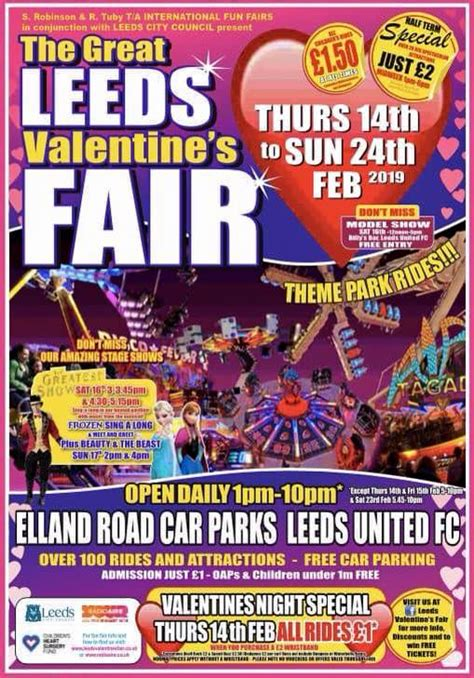 great leeds valentines fun fair  north leeds mumbler  local parenting community