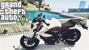 GTA V ROLE DE YAMAHA XJ6 N WHITE AND RED MOD MOTO YouTube