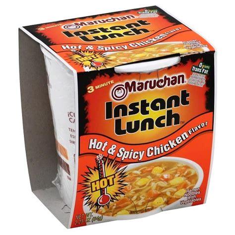 instant cuisine maruchan instant lunch spicy chicken flavor 2 25 oz