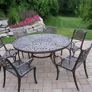 White cast aluminum patio table icamblog for Cast aluminum patio furniture