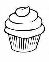 Cupcake Coloring Clipart Cookie Clipground sketch template