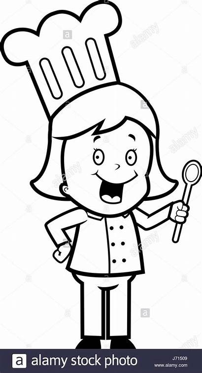 Chef Cartoon Clipart Standing Kid Happy Clipground