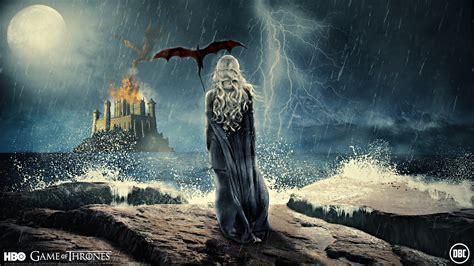 dragons artwork game  thrones emilia clarke daenerys