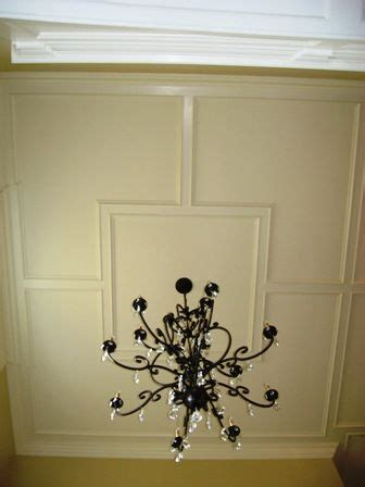 Raised Panel Wall Molding by Flat Ceiling Panel With A Raised Panel Molding In Foyer