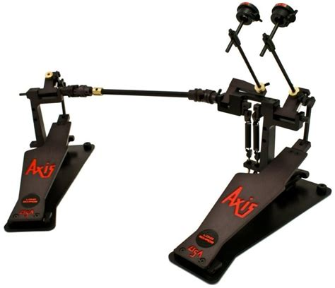 axis  longboard double bass drum pedal black dcp
