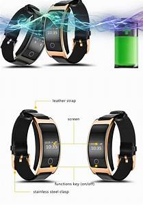 Bluetooth Smart Watch Ck11s Bracelet Band Blood Pressure Heart Rate Monitor Pedometer Fitness