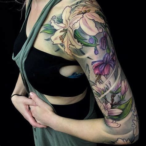 beautiful lily tattoo ideas pain  pleasure tattoos