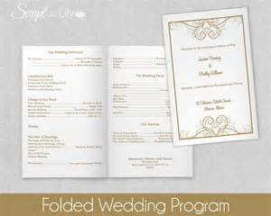design your own wedding program folded wedding program template instant editable