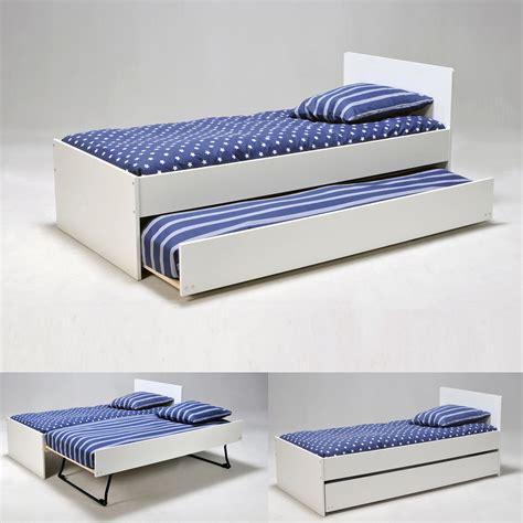 lit gigogne 90x190 cm avec 2 sommiers 224 lattes en bois sun