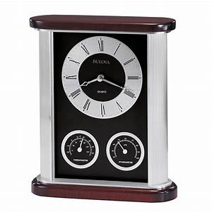 Belvedere, Desk, Clock, With, Thermometer, And, Hygrometer