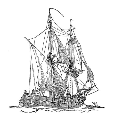 Schip Kleurplaat by Leuk Voor Zeilschepen 0015
