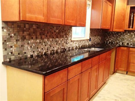 Kitchen Countertop Backsplash by Granite Kitchen Backsplash Black Galaxy Granite Countertop