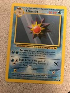 Whether your topps collection is common and only worth $20. Genuine 1995 Starmie Pokemon card   eBay