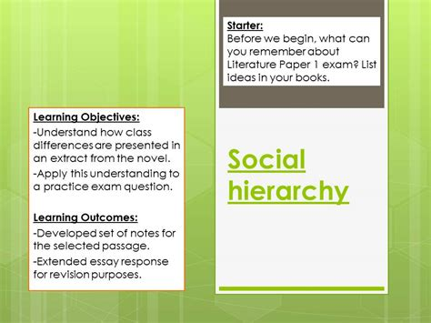 the secret river social hierarchy by sae5 teaching