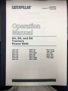 Caterpillar D6c Operation Maintenance Lubrication Guide