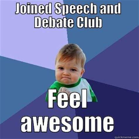 Memes Debate - speech and debate club memes
