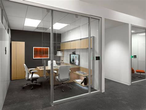 steelcase private office light wood furniture dark