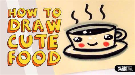 Cute coffee cappuccino and espresso kawaii button vector. How To Draw a Cute Coffe - Kawaii Food - Easy Drawings by Garbi KW - YouTube