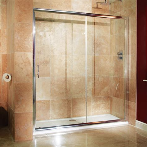 1700 Shower Enclosure - aquafloe 6mm 1700 x 800 sliding door shower enclosure