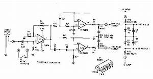 Simple Active Crossover Circuit Diagram With Tl074