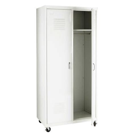 guardaroba bianco guardaroba bianco stile industriale in metallo l 85 cm