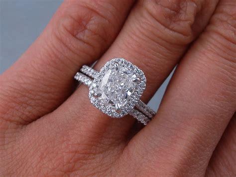 wedding ring sets cushion cut 2 00 ctw cushion cut wedding ring includes a matching wedding ring