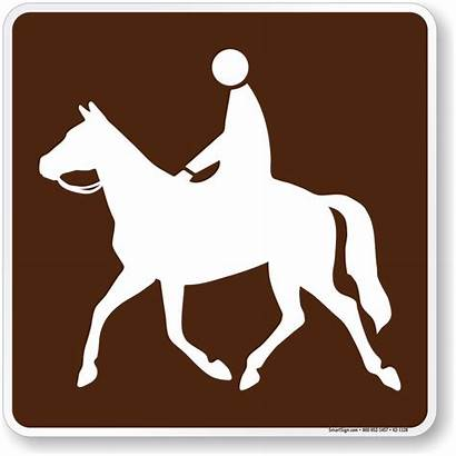 Horse Sign Trail Symbol Campsite 1128 Signs