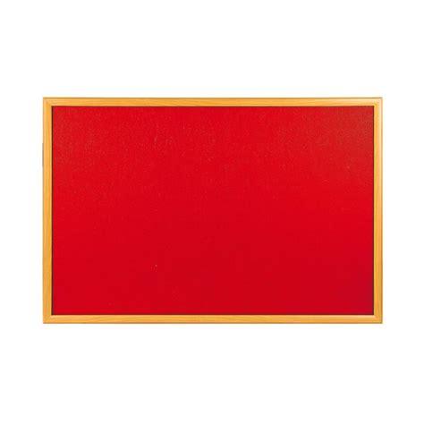 บอร์ดกำมะหยี่ขอบไม้ 60x90 ซม. สีแดง ONE | OfficeMate