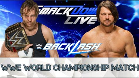 Check spelling or type a new query. WWE Backlash 2016 Match Card - YouTube