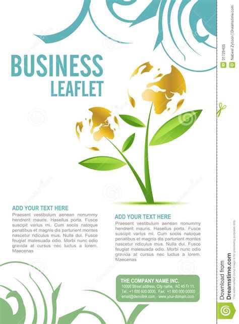 Leaflet Template Stock Images Royalty Free Images Leaflet Design Royalty Free Stock Photo Image 31729405