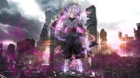 super saiyan rosado black goku dragon ball super anime