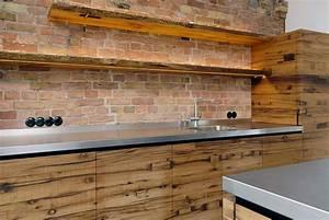 Irold mobel vollholz kueche eiche rustikal aus altem for Küche rustikal