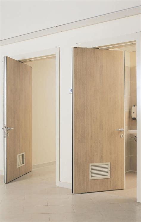 decorating large interior swinging door with frosted