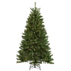 shop holiday living 6 1 2 ft spruce pre lit artificial christmas tree with 400 count clear