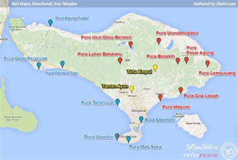 bali directional temples map  bahtcom