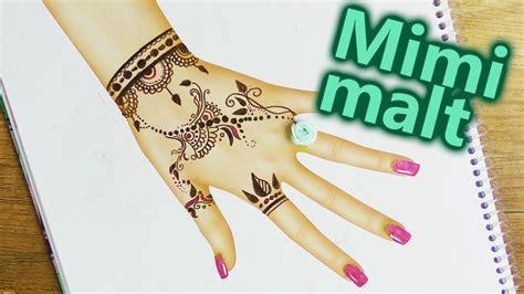 henna tattoo malen im topmodel malbuch schoene