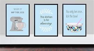 Duck egg blue kitchen prints, whip it good print, kitchen