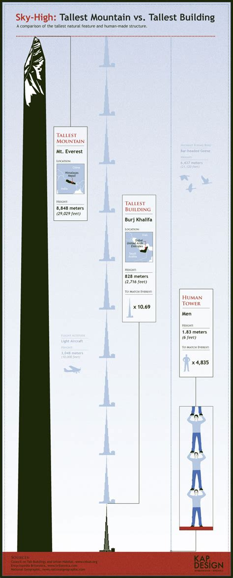 Sky-High: Tallest Mountain vs. Tallest Building