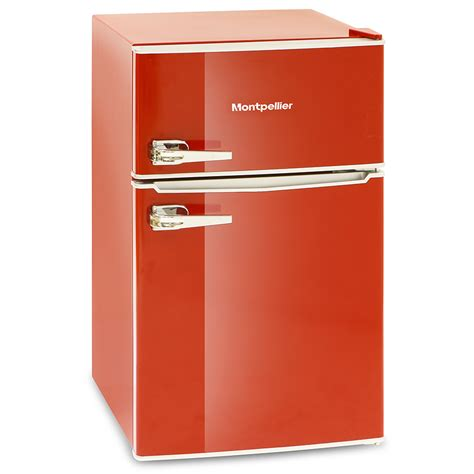 montpellier mab2030k r mini retro fridge freezer undercounter