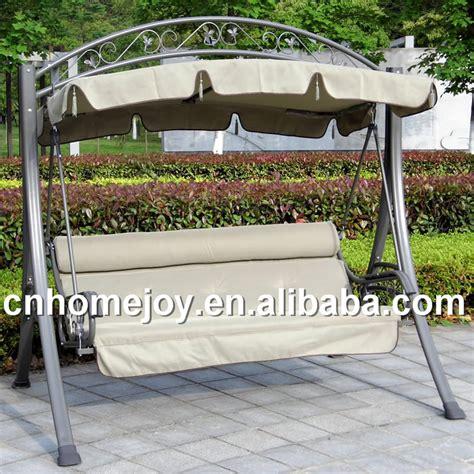 popular modern outdoor reclining swing free standing swing