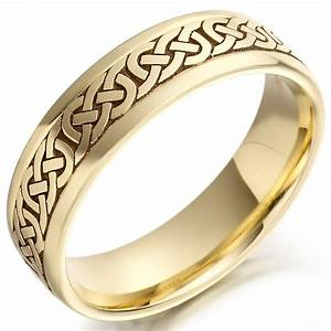 irish wedding ring mens gold celtic knots wedding band With celtic wedding rings